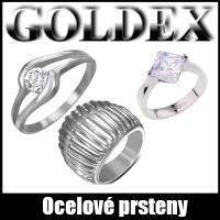 ocelové prsteny Goldex